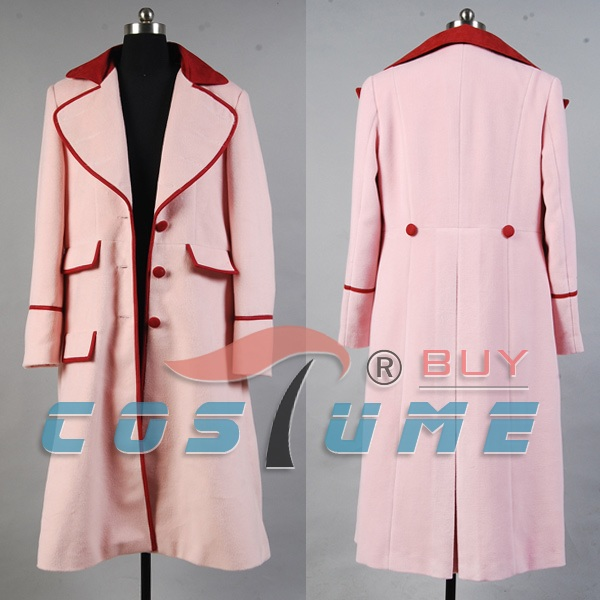 Who is Doctor Dr. Long Pink CashmereCosplay Costumes For Women Trench Coat Jacket Cape Halloween Costume