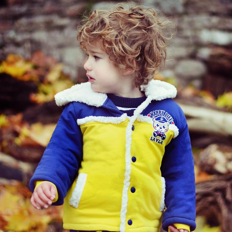Lavla Baby hoodies new 2016 kids coat autumn/winter clothing newborn child boy girl clothes thick tops children fleece outerwear
