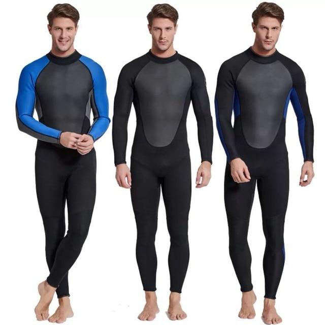 b2342d0a39 Sbart Male Mens 3 mm Long Sleeve Wetsuit Surf Spearfishing Swimwear Scuba  Diving Jumpsuit Keep Warm