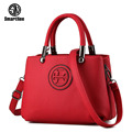 SmartNee Brand women's PU leather handbag for Crocodile grain handbag high-capacity leather shoulder bag tote bag