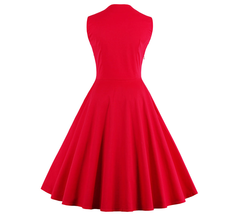 Sexy Vintage զգեստ S-4XL կանանց 50-ականներ - Կանացի հագուստ - Լուսանկար 5