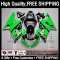8Gift  Gloss green For SUZUKI GSXR 600 750 01 02 03 GSX R750 K1 1JK839 Green black GSXR600 R600 GSXR750 2001 2002 2003 Fairing