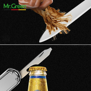 Image 5 - MR. GRÜNEN Multifunktions nail clipper edelstahl gürtel finger datei ring finger schere gürtel flasche opener zange scissorss
