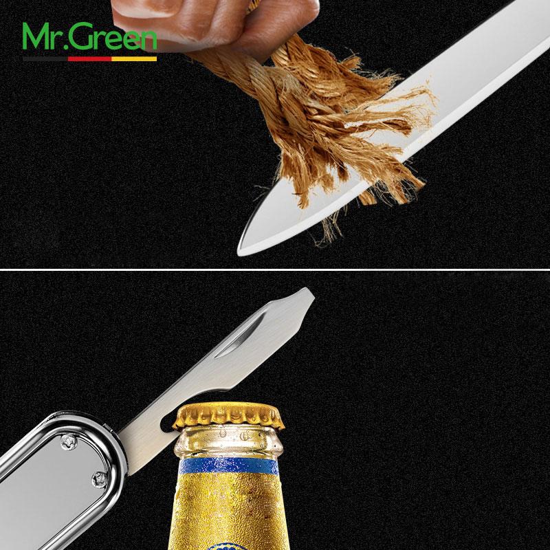 Image 5 - MR.GREEN Multifunctional nail clipper stainless steel belt finger file ring finger scissors belt bottle opener  plier scissorss-in Clippers & Trimmers from Beauty & Health