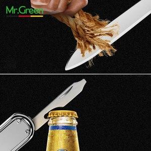 Image 5 - MR.GREEN Multifunctional nail clipper stainless steel belt finger file ring finger scissors belt bottle opener  plier scissorss
