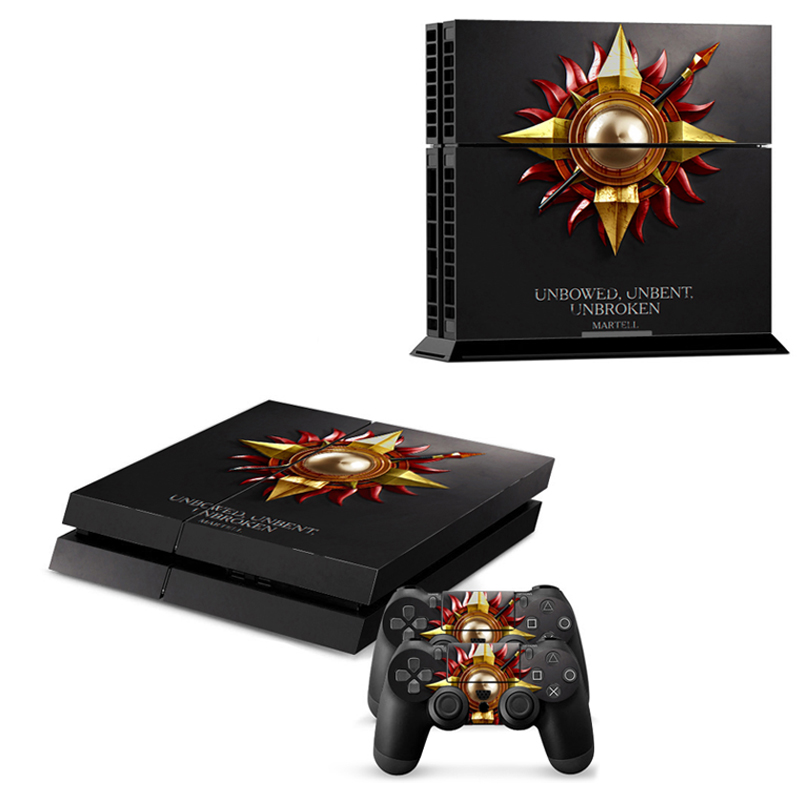 For Playstation 4 PS4 Console Game of Thrones Winter is Coming Stark Decal Skin Stickers + 2 Pcs Stickers For PS4 Controller