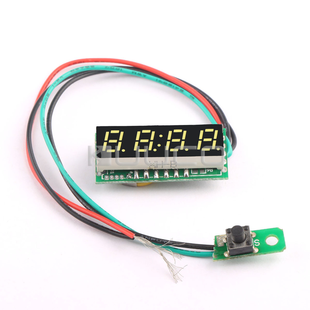 Digital Meter 0.28 White LED Clock DC12V 24V Digital Time Display Panel Meter for Car/Motorcycle/E-bike/Electromobile etc 24 hour digital clock yellow led display car clock digital meter panel meter adjustable clock dc 12v 24v diy time monitor tester