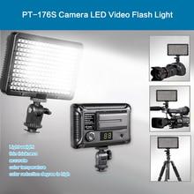 Pt-176s delgada led video fotografía luz foto iluminación led lámpara con zapata de la cámara para la cámara canon nikon sony dslr videocámara