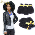 Brazilian Curly Hair Afro Kinky Curly Hair 3 Bundles Lot 7A Unprocessed Brazilian Curly Virgin Weave Hair Human Hair Extensions