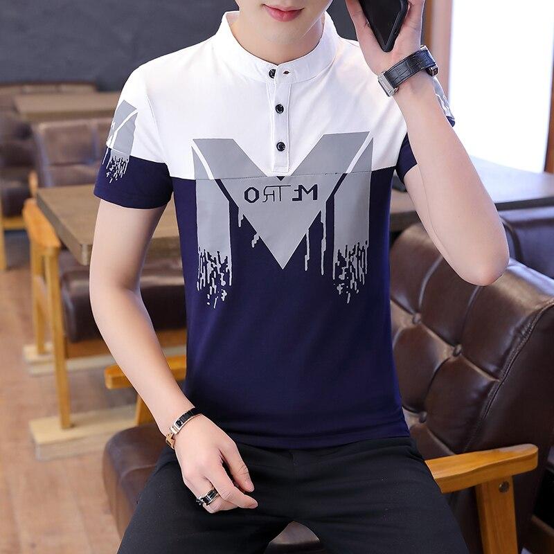 Summer Fashion Men's T Shirt Casual Short Sleeve Men's T-shirt Mens Casual Clothing Slim Hip-hop Top Tees 4