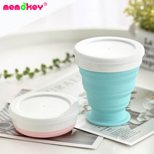 цена 250ML Travel Cup Stainless Steel Silicone Retractable Folding cups Telescopic Collapsible Coffee Cups Outdoor Sport Water Cup F