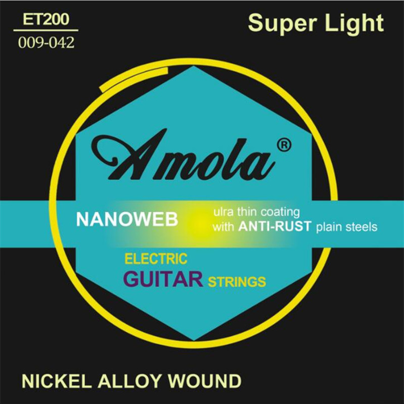 Original Amola ET200 .009-.042 Electric Guitar strings nickel alloy wound musical instruments guitar accessories