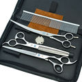 "7.0"" Professional Dog Grooming Scissors Set Pet Cutting & Thinning & Curved Shears Animals Hair Tool, LZS0377"