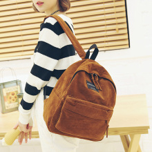 Comfortable Suede Backpack For Girls / Women