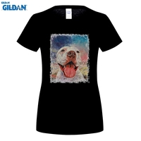 GILDAN T Shirt Pitbull American Dog Crew Neck Short Sleeved Tops Vintage T Shirt Est Teenage