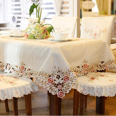 #809 Square Oval Embroidery Tablecloth Table Cloth Dinner Mat Europe  Polyester Mat Table Cover Wholesale