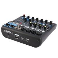 DJ Powered Mixer 8 Channel EU Plug Professional Power Mixing Amplifier USB Slot 16DSP +48V Phantom Power for Microphones