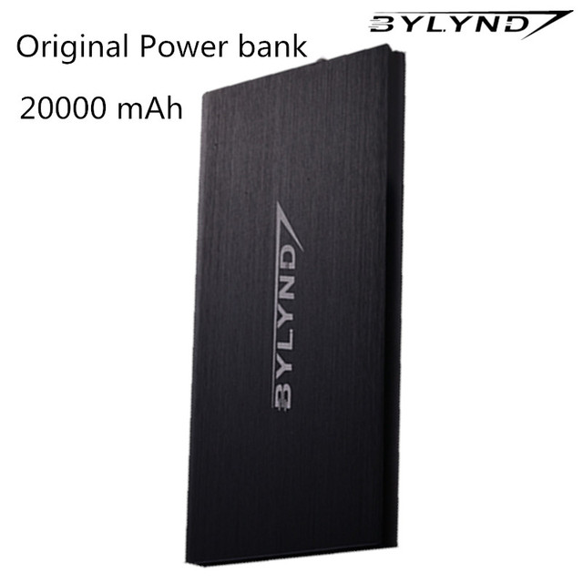 BYLYND черный 20000 мАч банк силы Портативный Dual USB зарядное устройство Резервного Копирования powerbank 20000 мАч Универсальный Cargador для iphone xiaomi