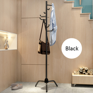 Image 5 - Coat Rack Clothes Tree Clothes Hat Tree Rack Free Standing Simple Fashion Hat and Coat Stand with 8 L Shaped Hooks Tripod Base