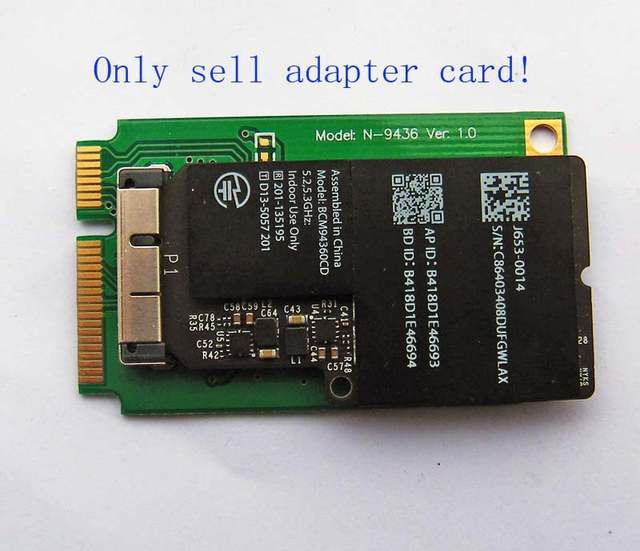 US $2 5 |Mini PCI E Adapter Card for BCM94331CD BCM943224PCIEBT2 BCM94360CD  BCM94331CSAX-in Network Cards from Computer & Office on Aliexpress com |
