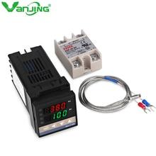 0-400C Alarm REX-C100 Digital Intelligent thermostat LED PID Temperature Controller+ Max.40A SSR Relay+K Thermocouple