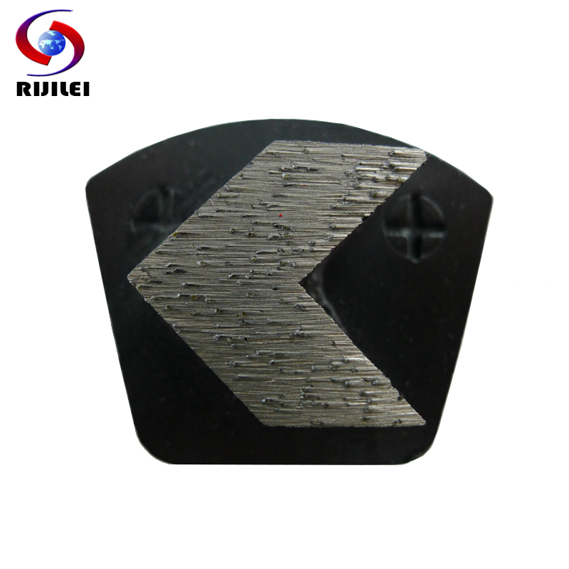 RIJILE 12 PCS Set Trapezoid Redi lock Diamond Grinding disk for concrete floor Grinding pad shoes marble polishing plate P20B in Abrasive Tools from Tools