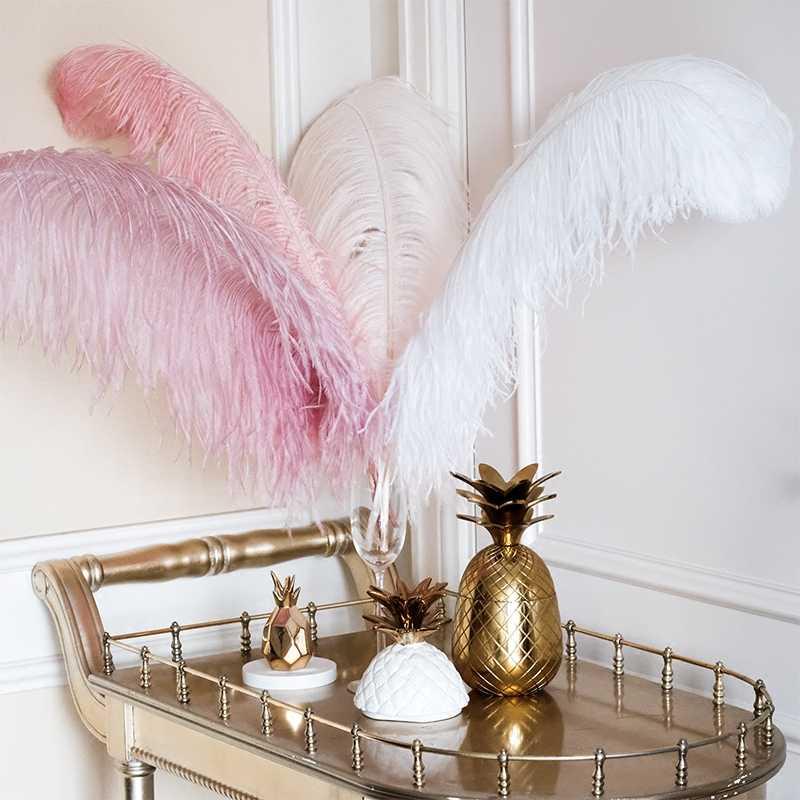 Настоящее страусиное перо Свадебная вечеринка Декор домашний декор перо Невеста Декор образец декор комнаты