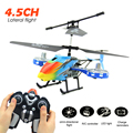 High Quality 4.5CH Mini RC Helicopter Expect Racing Helicopters 3 Frequency Drones RC With LED Light Battery Helicopter Drone!!!