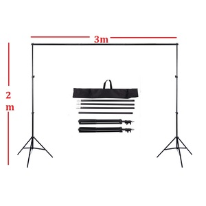 Lightdow 2X3M/6.6FTX9.8FT Adjustable Backdrop Stand Crossbar Kit Set Photography Background Support System for Muslins Backdrops