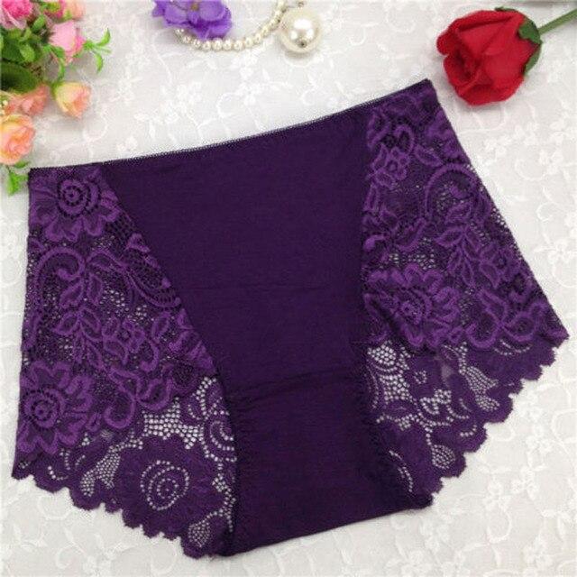 2018 Women Sexy Floral Lace Boxer Shorts Plus Size High Waist Panties Briefs  Transparent Boyshort Lingerie Culotte Underwear  56fbb9ad2