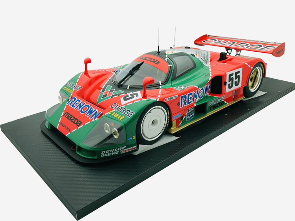 Diecast 112 car Toys For Boys red Mazada Diecasts Toy Vehicles 787B abs children Birthday Gift Model Car (7)