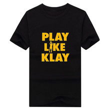 "2017 NEW Klay Thompson T-shirt 100% cotton short sleeve Play Like Klay""  T shirt 1022-3"