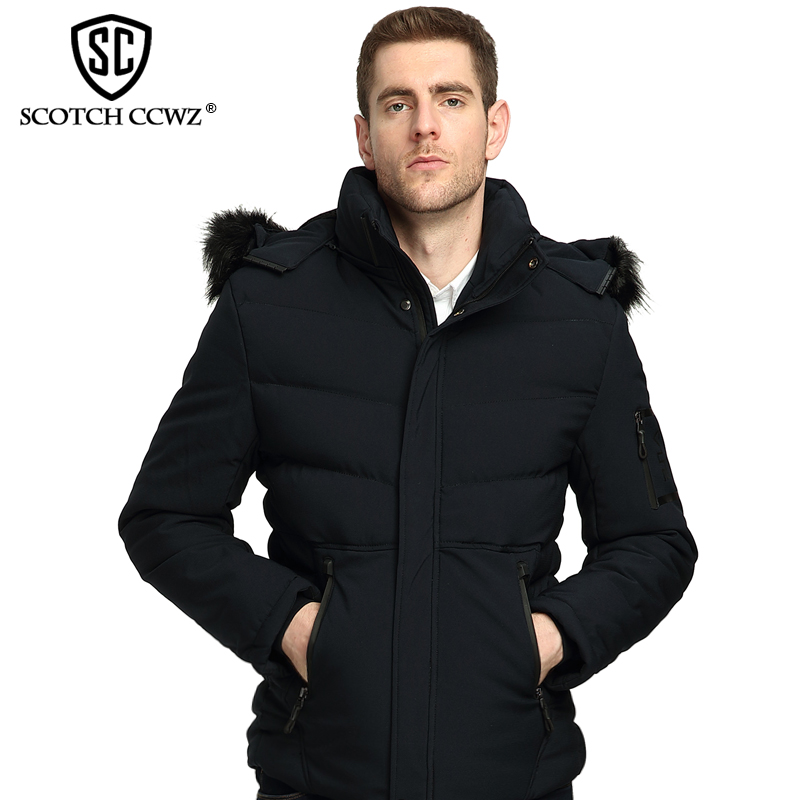 SCOTCH CCWZ Brand RU/EU size Fashion Thick Warm Winter Jacket Men Parkas Outerwear 2017 New Jackets And Coats Clothing 71715 free shipping winter parkas men jacket new 2017 thick warm loose brand original male plus size m 5xl coats 80hfx