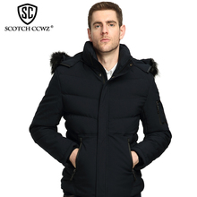 SCOTCH CCWZ Brand RU/EU size Fashion Thick Warm Winter Jacket Men Parkas Outerwear 2017 New Jackets And Coats Clothing 71715