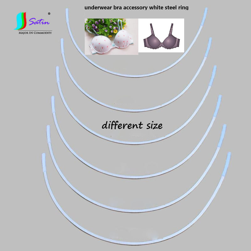 25 Pairs Women Underwear Bra Accessory White Stainless Steel Ring,Bra Decoration Accessory White Semicircle Steel Ring A0026L