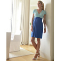 Пасха Благоприятные Озера Синие Платья для Беременных Материнства V-образным Вырезом Лайкра Элегантных Женщин Свадебные Платья Дамы Офис Бизнес Party Dress