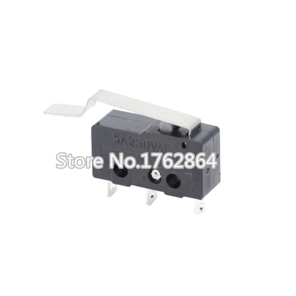 100 PCS/Lot 3pin All New Limit Switch 5A250V KW11-3Z Mini Micro Switch 27mm Handle Laser Machine Micro Limit Sensor