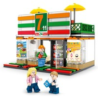 Legoed 320pcs Chinese Mini Convenience Store Shop Building model Scene Sets Compatible Street View Creative Brick Kid Toys Gift
