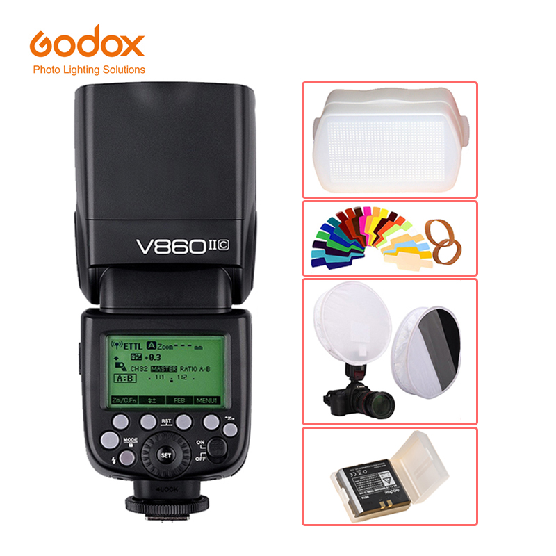 Godox Ving V860II V860II-S/N/C/F/O GN60 E-TTL HSS 1/8000 Li-ion Battery Speedlite Flash for Sony Nikon Canon Olympus Fujifilm godox v860ii v860ii c e ttl hss 1 8000s li ion battery speedlite flash for canon 800d 760d 750d 80d 70d 60d 1300d 1200d 650d 1ds