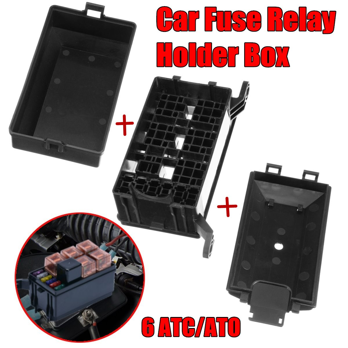 Auto Car Fuse Relay Box Relay Socket Holder 6 Relay 6 ATC/ATO Fuses  Universal-in Car Switches & Relays from Automobiles & Motorcycles on  Aliexpress.com ...
