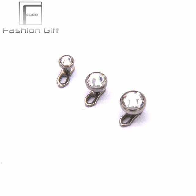 Piercingschmuck  Aliexpress.com : G23 titanium hautanker mit 3/4/5mm strass ...