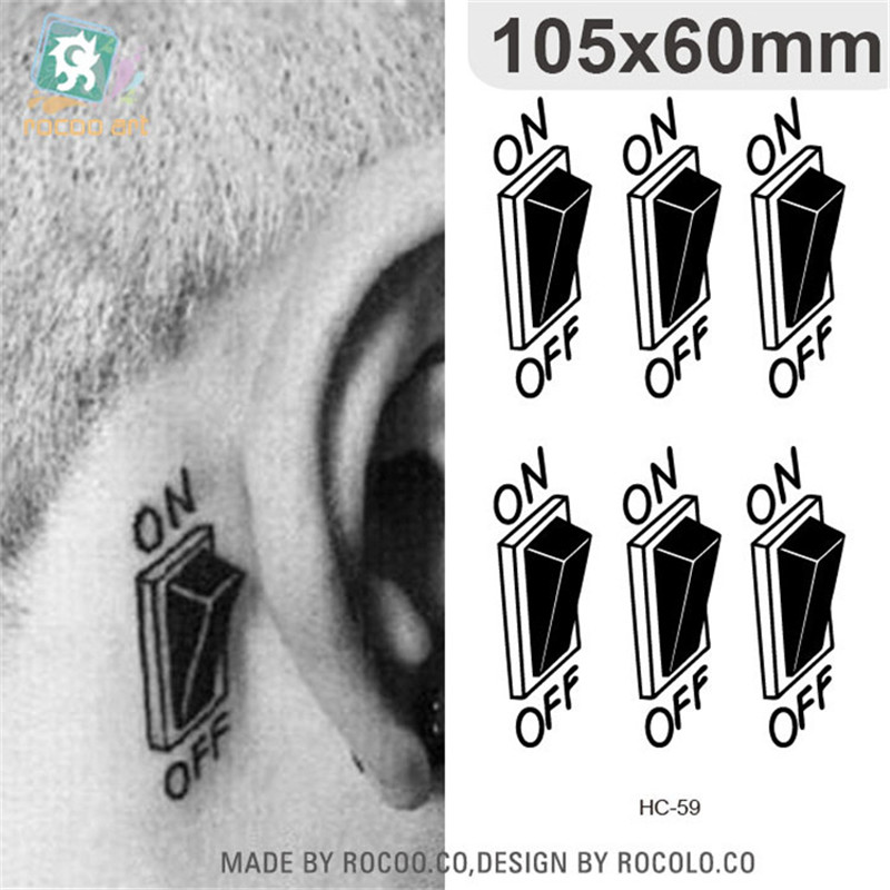 Body Art Waterproof Temporary Tattoos For Men And Women Personality 3d Switch Design Small Tattoo Sticker Wholesale HC1059