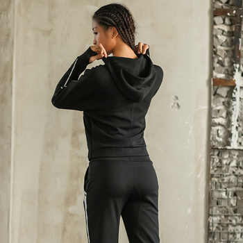 News Sport Jacket+Pants Quick Dry Breathable Yoga Suits 2 in 1 Winter Running Suit Female Gym Jogging Sport Set Autumn For Girls