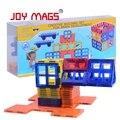 Revistas de alegría 42 unids fichas magnéticas diseñador enlighten juguetes para niños bloques de construcción de juguete magnético de entrega local