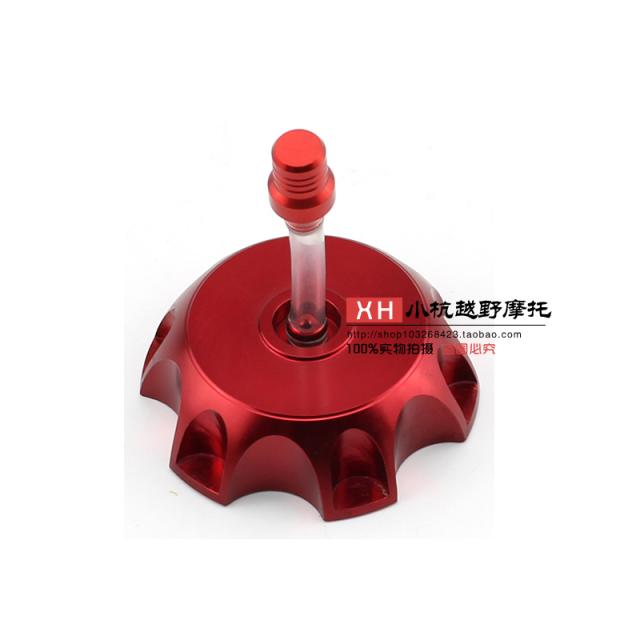 Motorcycle CNC Red Petrol Gas Fuel Tank Cap Cover For 50 70 90 110cc Stomp  Pit Dirt Bikes GPX XR
