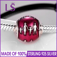 LS High Quality 925 Sterling Silver Family Bonds Charm Beads Fit Original Bracelets Pulseira Encantos 100