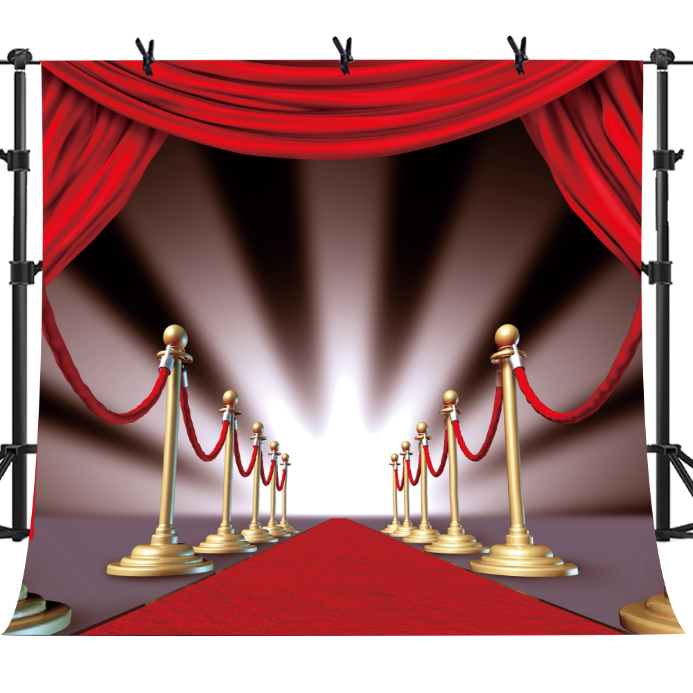 MTMETY Red Carpet Stairs Star Photography Backdrop 10X10ft Hollywood Star Red Carpet Photo Background Vinyl Studio Props