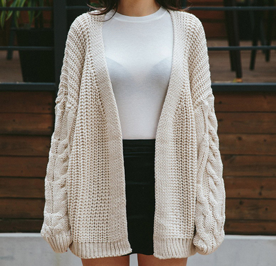 Autumn Sweater Fashion Female Cardigan 2018 Knitted Women Loose Quality High 2 1 Winter Knitting Sleeve Long Rw1zzHP5q