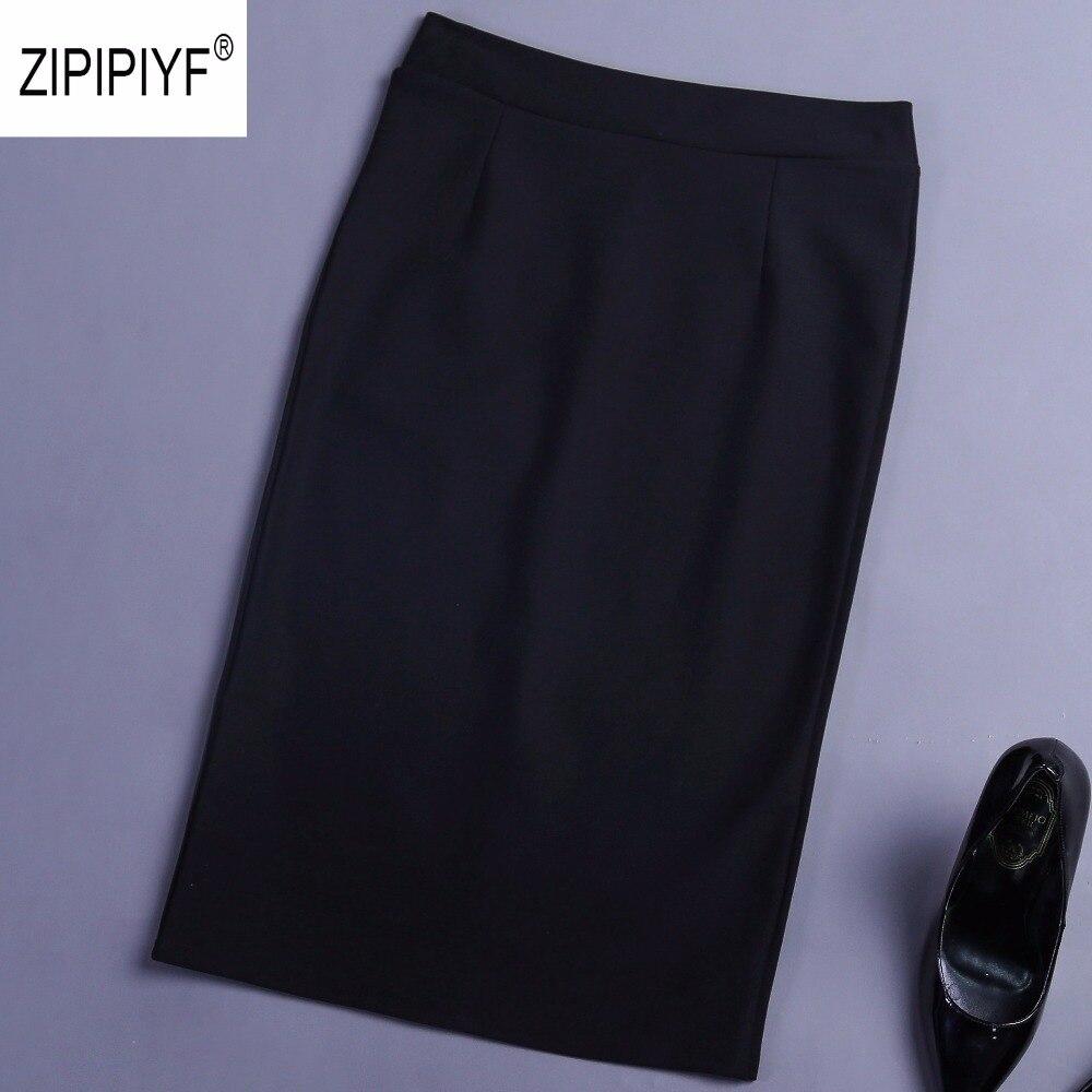 2018 Hot Sale Women Skirt Pencil Skirt With High Waist Tight Office back Slit Skirt Fashion
