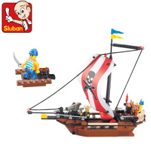Sluban 226Pcs Pirates Caribbean Warriors Building Block Sets Minifigures Model Bricks Toys For Kids Gifts Compatible With Legoe
